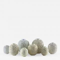 Gunnar Nylund Collection of 8 Chamotte Hedgehog Vases by Gunnar Nylund for R rstrand Sweden - 1385546