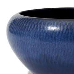 Gunnar Nylund Exceptional Textured Vase Bowl in Saturated Blue by Gunnar Nylund - 1184609