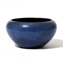 Gunnar Nylund Exceptional Textured Vase Bowl in Saturated Blue by Gunnar Nylund - 1184610
