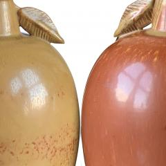 Gunnar Nylund Exotic Fruit Table Lamps in Burnt Sienna and Gold by Gunnar Nylund - 1206576