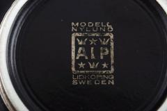 Gunnar Nylund Gunnar Nylund for ALP Lidk ping Art deco ceramic lidded jar with silver inlay - 1304904