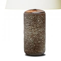 Gunnar Nylund Magnificently Textured Table Lamp in Glazed Chamotte by Gunnar Nylund - 1192828
