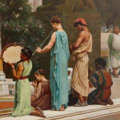 Gustave R Boulanger A Summer Repast at the House of Lucullus large oil painting by Boulanger - 1516355