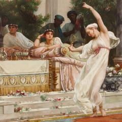 Gustave R Boulanger A Summer Repast at the House of Lucullus large oil painting by Boulanger - 1516357
