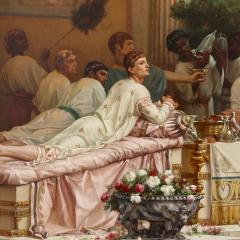 Gustave R Boulanger A Summer Repast at the House of Lucullus large oil painting by Boulanger - 1516359