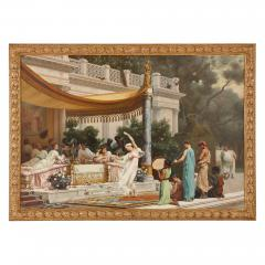 Gustave R Boulanger A Summer Repast at the House of Lucullus large oil painting by Boulanger - 1516377