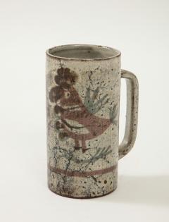 Gustave Raynaud Decorative Vintage Ceramic Jug by Gustave Raynaud circa 1960 - 1281637