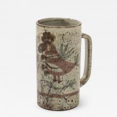 Gustave Raynaud Decorative Vintage Ceramic Jug by Gustave Raynaud circa 1960 - 1282243