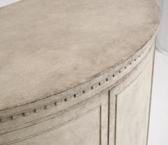 Gustavian style demi lune sideboard circa 100 years old - 1039335