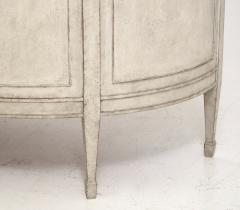 Gustavian style demi lune sideboard circa 100 years old - 1039336