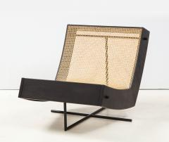 Gustavo Bittencourt Contemporary Benjamin Lounge Chair with Ottoman by Gustavo Bittencourt Brazil - 2044698