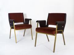 Gustavo Pulitzer Finali Pair of Albenga armchairs for Arflex - 1117339