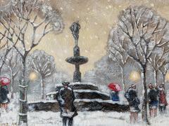 Guy Carleton Wiggins Impressionism Oil on Board Guy C Wiggins - 1513186