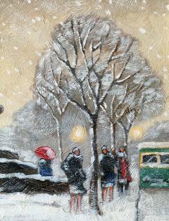 Guy Carleton Wiggins Impressionism Oil on Board Guy C Wiggins - 1513188