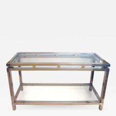 Guy LeFevre A Good Quality Chrome and Brass Console Table by Guy LeFevre for Maison Jansen - 610971