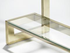 Guy LeFevre Guy Lefevre pair of large brass console tables for Maison Jansen 1970 s - 983866