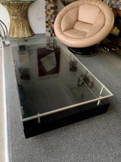 Guy LeFevre Lacquered Coffee Table Nickeled Brass by Guy Lefevre France 1970s - 1260661
