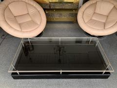 Guy LeFevre Lacquered Coffee Table Nickeled Brass by Guy Lefevre France 1970s - 1260662