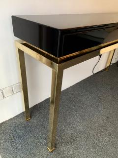 Guy LeFevre Lacquered and Brass Console by Guy Lefevre France 1970s - 1224656