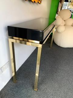 Guy LeFevre Lacquered and Brass Console by Guy Lefevre France 1970s - 1224660