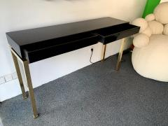 Guy LeFevre Lacquered and Brass Console by Guy Lefevre France 1970s - 1224661
