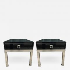 Guy LeFevre Pair of end tables by Guy Lefevre for Maison Jansen France 1970s - 1934889
