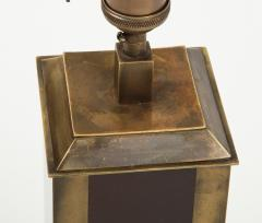 Guy LeFevre Rare Laque dAmbre and patinated brass table lamp by Guy Lefevre France 1970s - 1927887