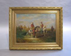 H Van Faber 19th Century Orientalist Painting with Horses - 295699