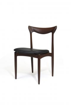 H W Klein H W Klein Sculpted Back Dining Chairs of Walnut Set of Six - 1220727