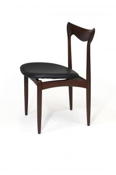 H W Klein H W Klein Sculpted Back Dining Chairs of Walnut Set of Six - 1220729