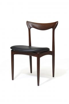 H W Klein H W Klein Sculpted Back Dining Chairs of Walnut Set of Six - 1220730
