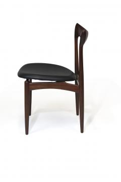 H W Klein H W Klein Sculpted Back Dining Chairs of Walnut Set of Six - 1220732