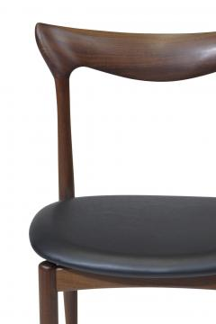 H W Klein H W Klein Sculpted Back Dining Chairs of Walnut Set of Six - 1220733