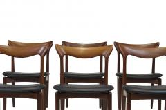 H W Klein H W Klein Sculpted Back Dining Chairs of Walnut Set of Six - 1220734