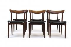 H W Klein H W Klein Sculpted Back Dining Chairs of Walnut Set of Six - 1220736