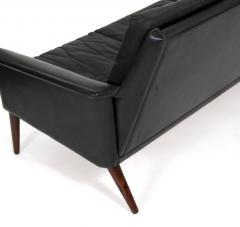 H W Klein Mid Century Leather and Rosewood Sofa - 1290680