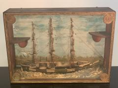 HANDMADE 1900S SHIP DIORAMA - 1084725