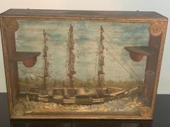 HANDMADE 1900S SHIP DIORAMA - 1084732