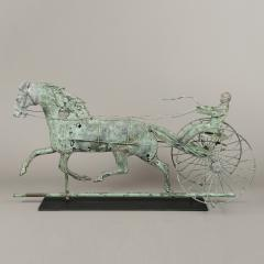HORSE AND SULKY WEATHERVANE - 1754642