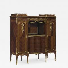 Haentges Fr res Gilt Bronze Mounted Br che Violette Marble Top Side Cabinet by Haentges Fr res - 2030222