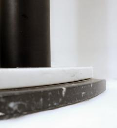 Half Moon Marble Console Table Ettore Sottsass Style - 1896028