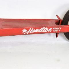 Hamilton Vintage Snappy RED SCOOTER Heavy Duty Push Kick Start 1950s USA - 1988201