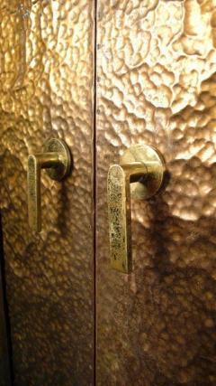 Hammered Brass Doors - 1272369