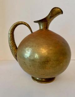 Hammered Italian Brass Urn Pitcher Signed Egidio Casagrande - 1725803