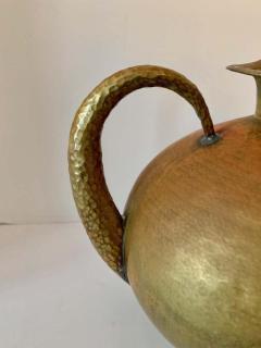 Hammered Italian Brass Urn Pitcher Signed Egidio Casagrande - 1725826
