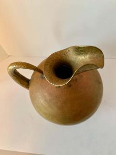 Hammered Italian Brass Urn Pitcher Signed Egidio Casagrande - 1725827
