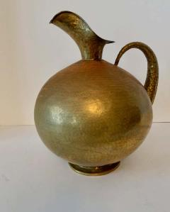 Hammered Italian Brass Urn Pitcher Signed Egidio Casagrande - 1725829