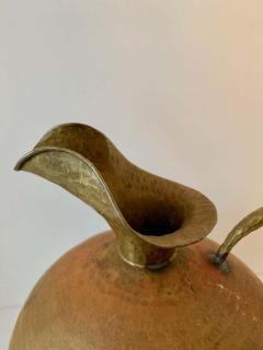 Hammered Italian Brass Urn Pitcher Signed Egidio Casagrande - 1725830