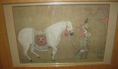 Han Kan Han Kan Chinese Framed Print of Tang Dynasty Painting - 617635