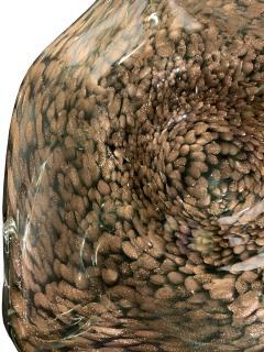 Hand Blown Murano Glass Dish With Aventurine 1950s - 1189286